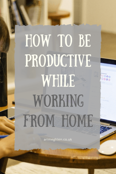 Title Image: How to be productive while working from home. Image: Woman working on a laptop at home