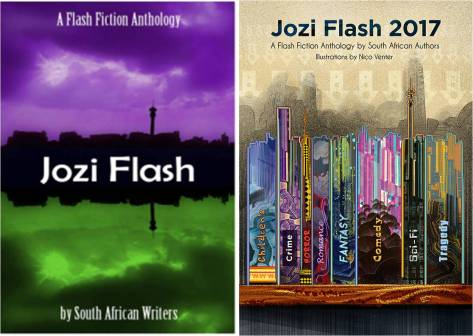 Book cover image for Jozi Flash. A flash fiction anthology