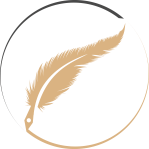 Ari Meghlen Logo. Writer logo, quill