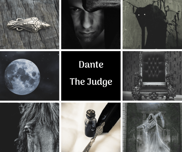 Character Aesthetic for Dante the Judge from The Blessed by Ari Meghlen