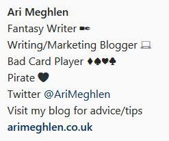Screenshot of Ari Meghlen Instagram Bio