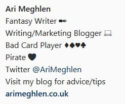 Screenshot of Ari Meghlen Instagram Bio
