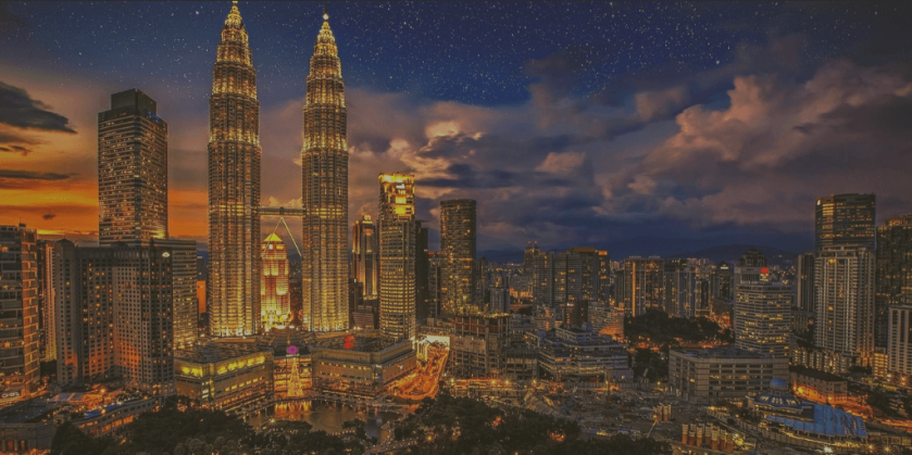 Photo of skyscrapers and cityscape. Kuala Lumpar