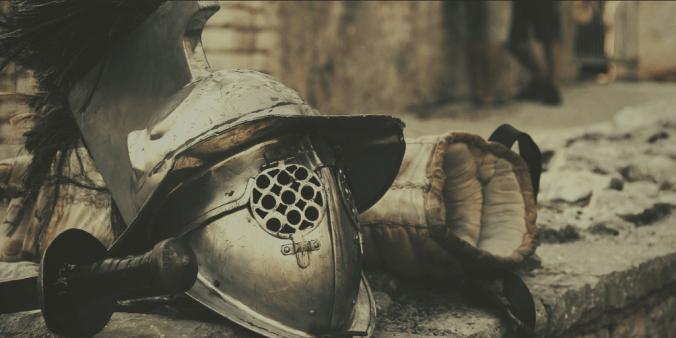 Photo of gladiator armour