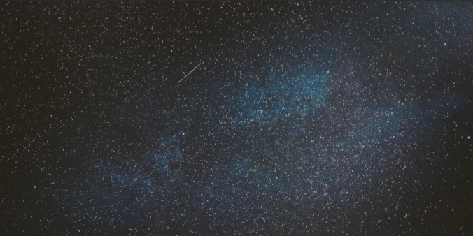 Photo of Milky way, shooting star, comet, space scape
