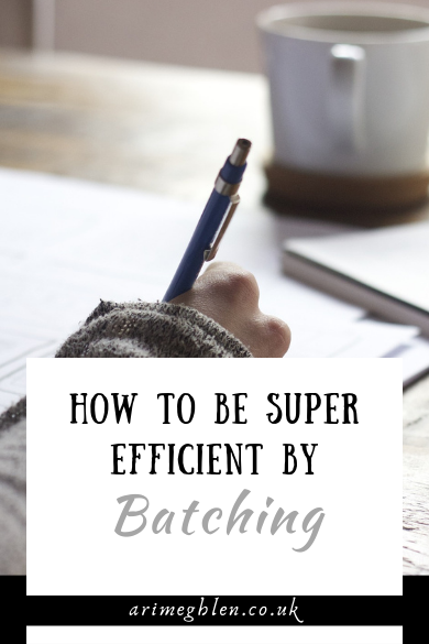 How To Be Super Efficient By Batching