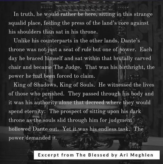 Excerpt from The Blessed by Ari Meghlen