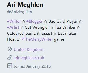Screenshot of my twitter bio profile
