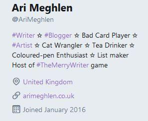Screenshot of my twitter bio profile
