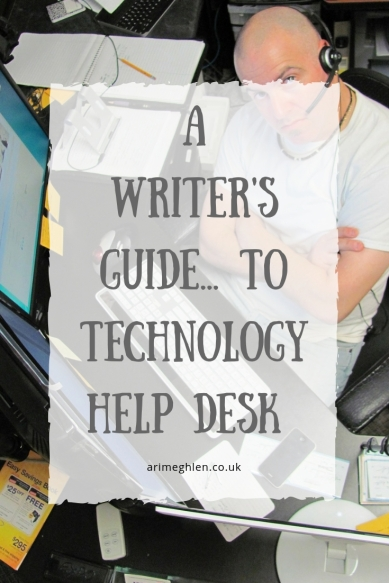 A Writer's guide to technology help desk. Image: Man working a help desk