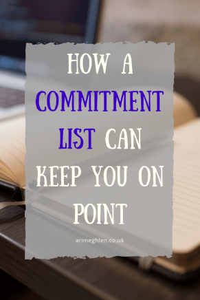 How a commitment list can keep you on point. Image: notepad with pen