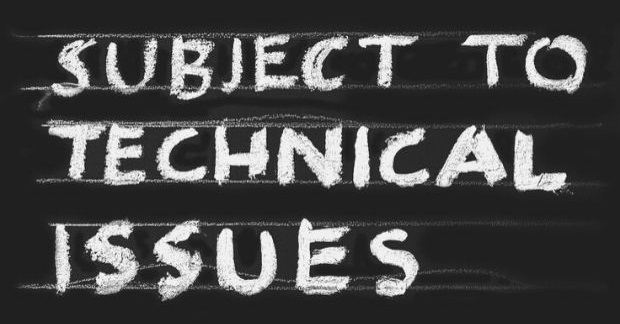 "Featured Images - Chalk board with the words ""Subject to Technical Issues"" written on. Image from Pixabay"