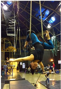 Dance Trapeze. Performer Catherine Doveland