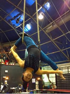 Circus performer. Dance Trapeze. Arielist. Performer Catherine Doveland