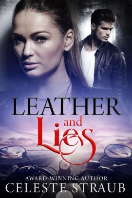 Book cover Leather and Lies by Celeste Straub