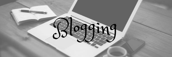 Blogging header. Image: Laptop on desk