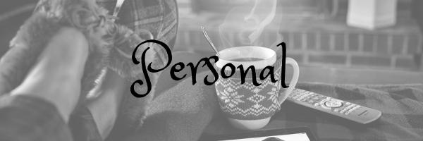 Personal header. Image: Slippered feet before a fire with a hot chocolate