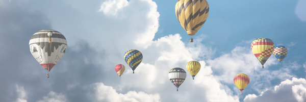 Hot Air Balloons floating in the sky. Pixabay image