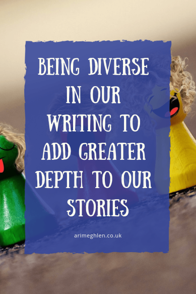 Being diverse in our writing to add greater depth to our stories. Image of little wooden pen people from Pixabay bay