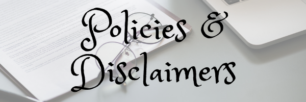 Policies & Disclaimer page banner. Image of documents and glasses. Image by rawpixel on Pixabay