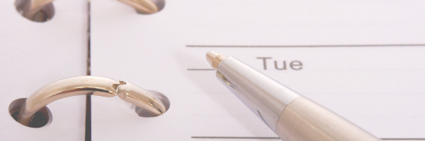 Calendar and a pen. Image from Pixabay
