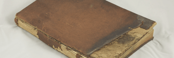 damaged book cover.  Image from pixabay