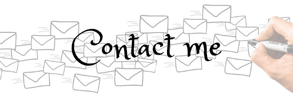 Contact me banner. Image of hand drawing envelopes from Pixabay