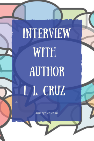 Interview with author I.L Cruz.  Image of speechbubbles