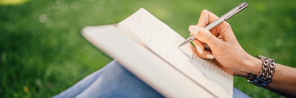 Make a plan. Woman writing. Image from pixabay
