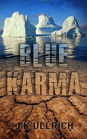 book cover for Blue Karma by J. K Ullrich