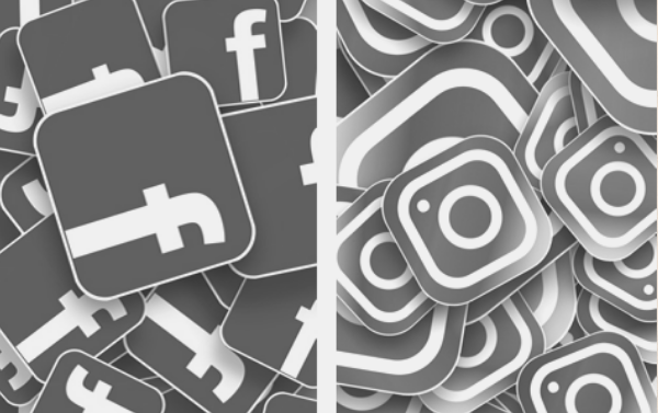 Featured Image. Facebook icons and Instagram icons. Images from Pixabay