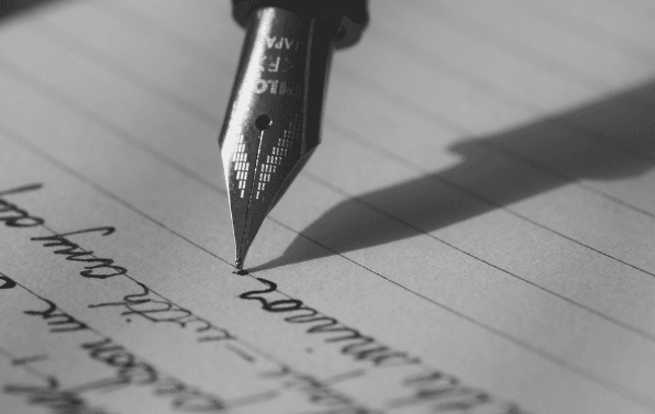 Featured Image - Fountain pen writing. Image from Pixabay