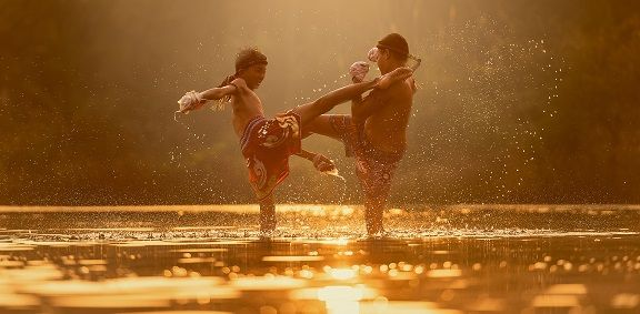 Martial arts, fighting, kicking.  Image from Pixabay