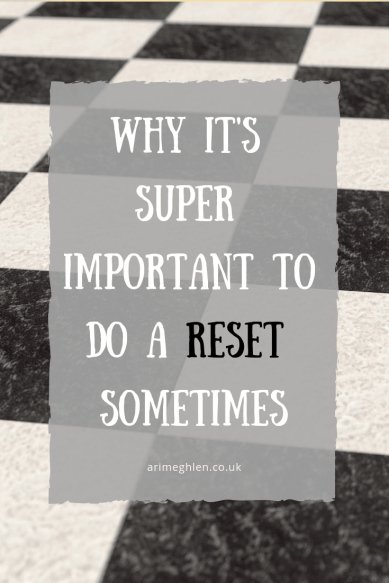 Why it's super important to do a reset sometimes. Image of a blank chessboard