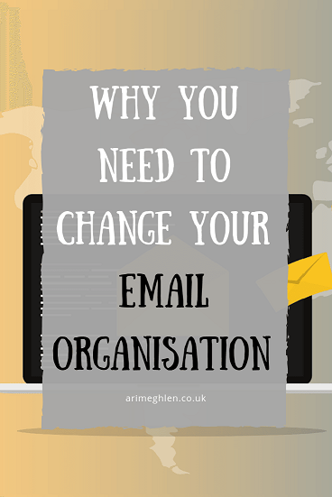 Banner - Why you need to change your email organisation. Image from Pixabay
