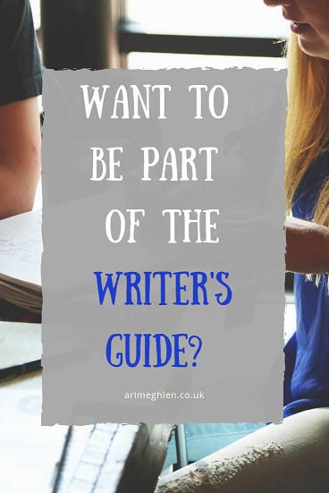 Banner - Want to be part of the Writer's Guide? Image of people in a team from Pixabay