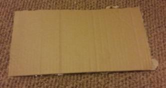 DIY Project double your bookshelf. Cardboard shelf