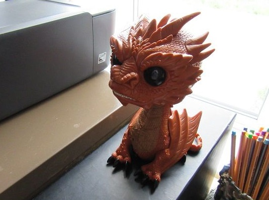 My Writerlife Series - Workstation set-up - Funko Pop Smaug