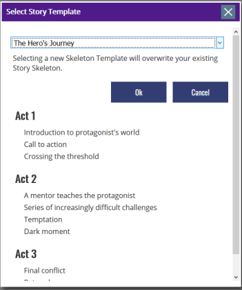 The Novel Factory - Story Template
