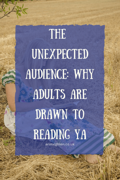 The Unexpected audience: Why adults are drawn to reading YA.  Image of woman reading a book in a field.