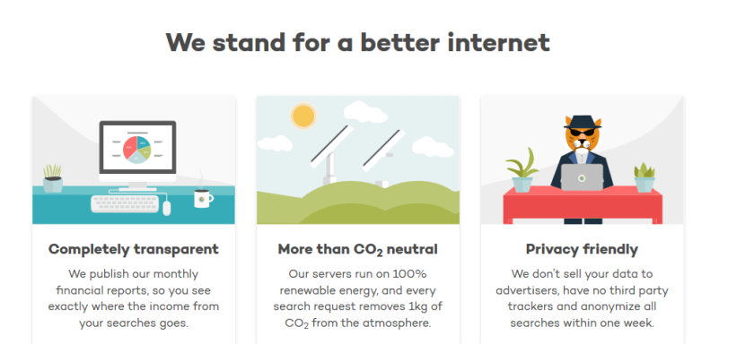 Ecosia - We Stand for a better internet