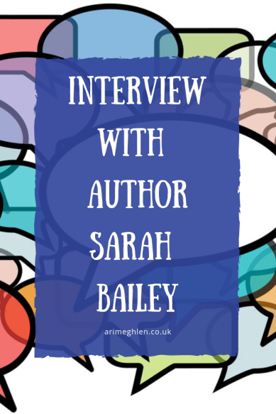 Banner - Interview with Author Sarah Bailey.  Speechbubbles.