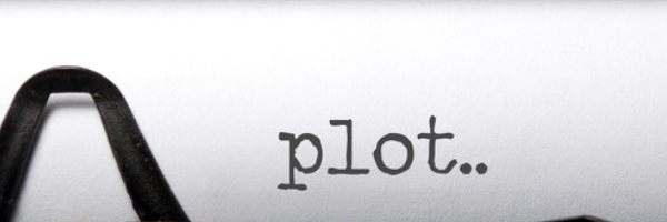 Typewriter with the word Plot typed out