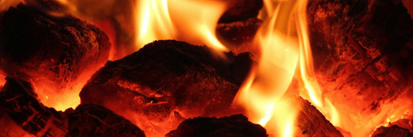 Image of hot coals and flames. Image from Pixabay