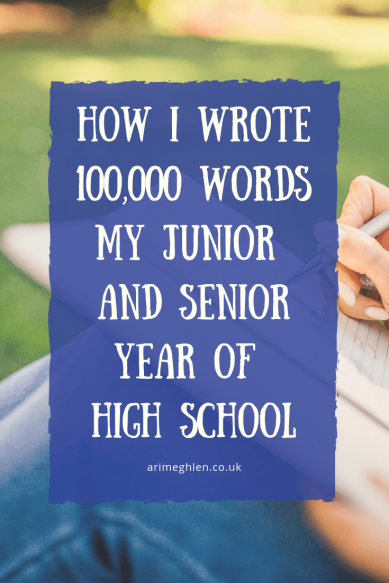 Banner - How I Wrote 100,000 words in my junior and senior year of high school.  Guest writer Catherine Doveland.