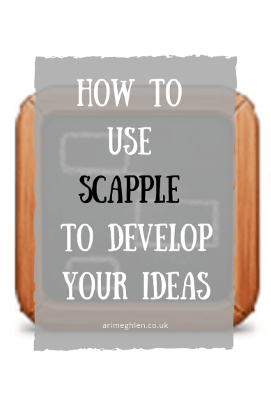 Banner - How to use Scapple to develop your ideas. Text over the Scapple board logo.