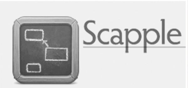 Brainstorming software. Scapple logo
