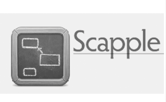 Brainstorming software. Scapple logo
