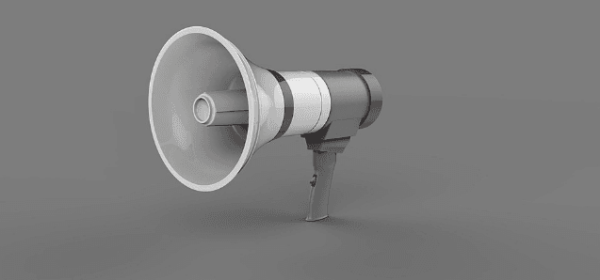 Featured Images - Announcement. 3D Megaphone image from Pixabay