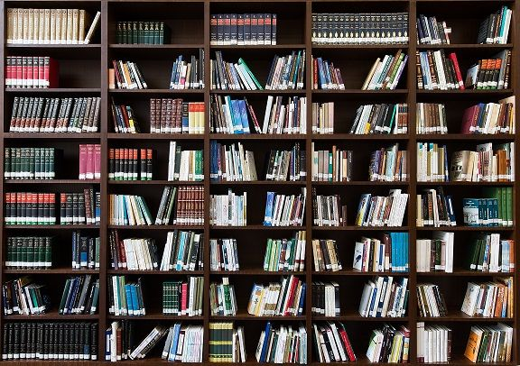 Book shelf full of books. To Be Read List. TBR List. Image from Pixabay